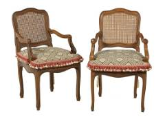 Pair of French Provincial Fruitwood Fauteuils