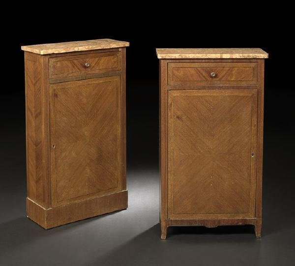 2: Near Pair of Louis XVI-Style Mahogany Cabinets