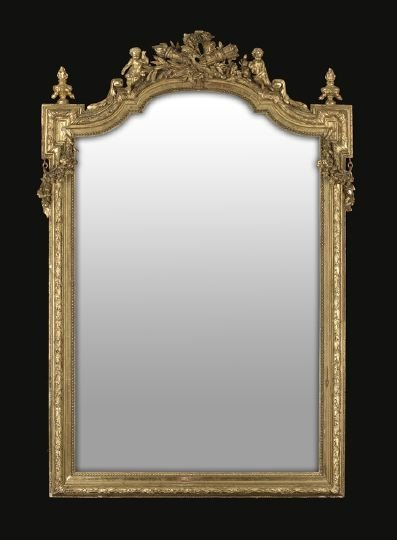 10: Louis XVI-Style Giltwood Looking Glass
