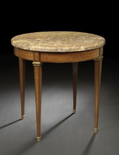13: Louis XVI-Style Mahogany Center Table
