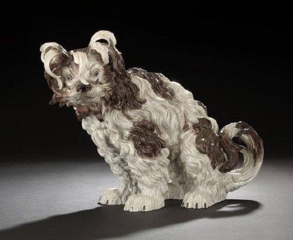 619: Potschappel Figure of a Bolognese Terrier