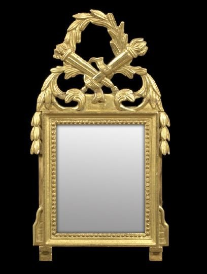 628: Southern French Giltwood Looking Glass