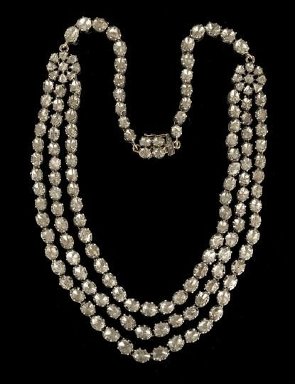 1316: Victorian Gold, Silver and Diamond Necklace