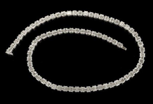 1318: Dazzling Platinum and Diamond Lady's Necklace