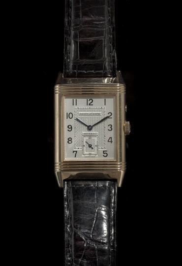 1330: Jaeger-LeCoultre Reverso Grande Date Wristwatch