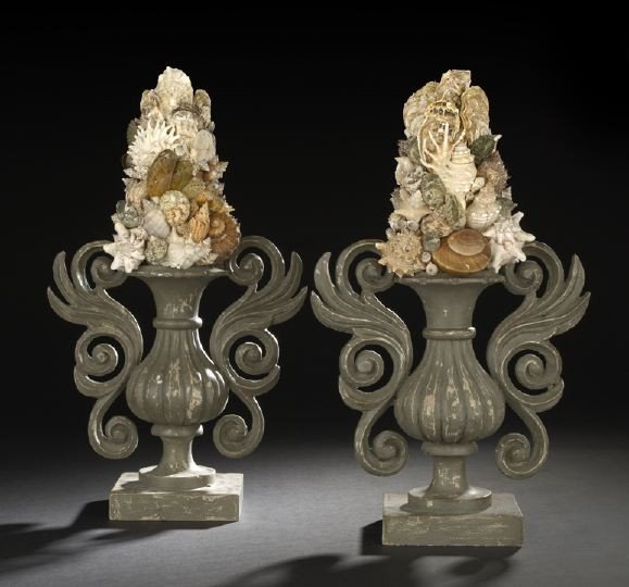 24: Large Pair of Italian Two-Handled Garniture Vases