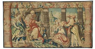 Exceptional Flemish Hand-Woven Tapestry