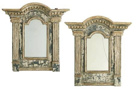 Pair of Painted Mirrors in the Palladian Taste