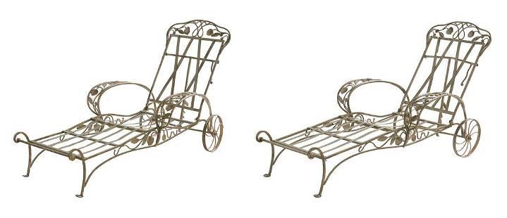 """Pair of Salterini """"Della Robbia"""" Lounge Chairs"""