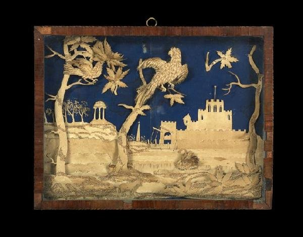 12: Good Continental Cut-Paper Relief Picture