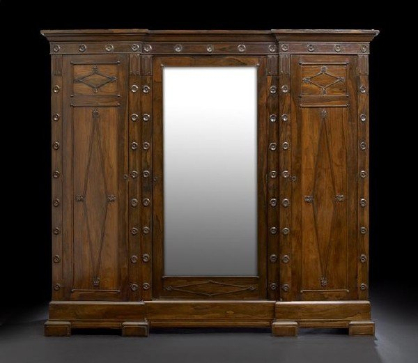 560: American Late Classical Rosewood Armoire