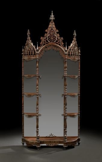 567: Important American Gothic Revival Etagere