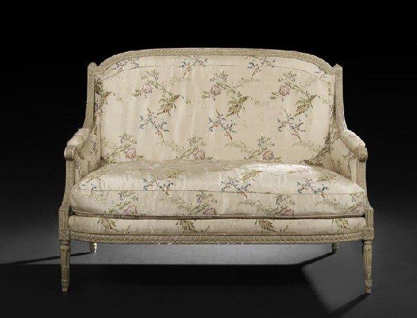 5: Louis XVI Gris de Trianon Canape a la Reine