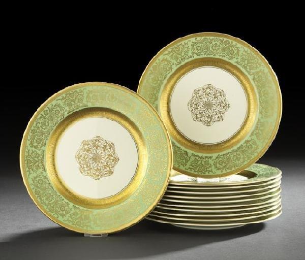 8: Twelve Pickard Edgerton Porcelain Dinner Plates