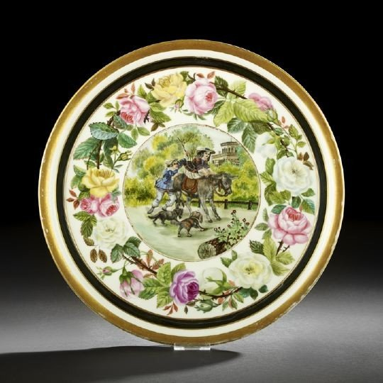 12: Franco-Bohemian Porcelain Pastry Tray