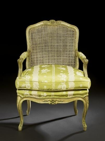13: Louis XV-Style Polychromed Fauteuil