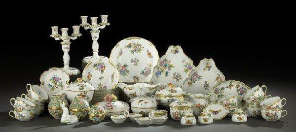 18: Diversified Herend Porcelain Dinner Service