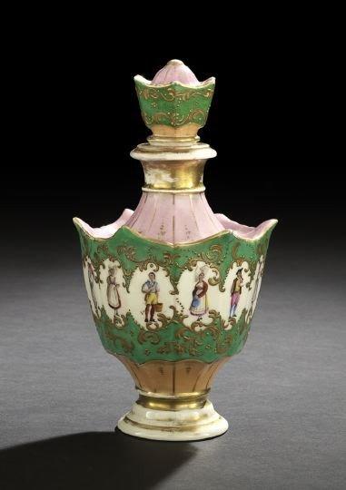 19: Good Paris Porcelain Cologne Bottle