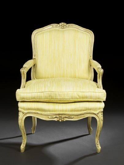 20: Louis XV-Style Polychromed Fauteuil