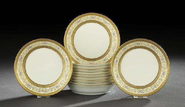 22: Twelve William Guerin Porcelain Soup Plates