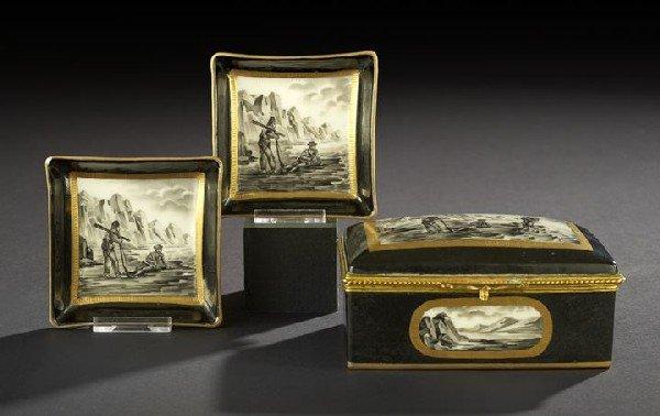 24: Three-Piece Porcelain de Paris Smoker's Set