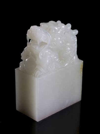 109: Fine and Rare Chinese White Jade Imperial Seal