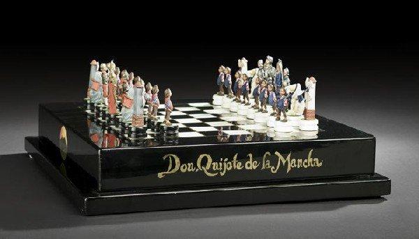 "592: Spanish ""Don Quixote de la Mancha"" Chess Set"