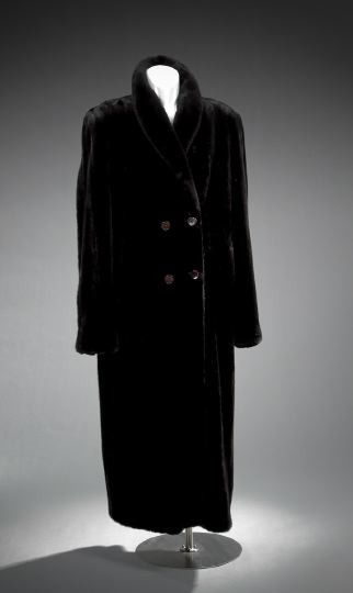 Men's Double-Breasted, Full-Length Mink Coat
