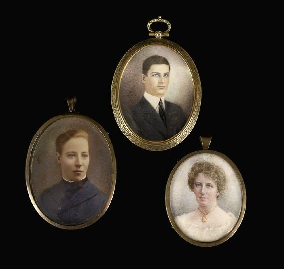 5: Three Anglo-American Oval Portrait Miniatures