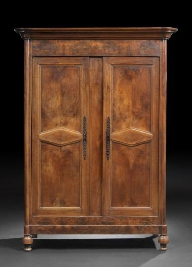 1: Provincial Restauration Walnut Armoire