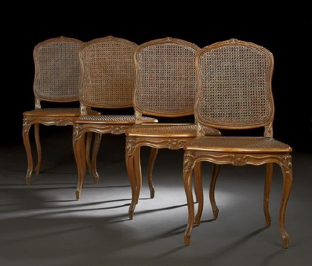 2: Four Provincial Louis XV-Style Sidechairs