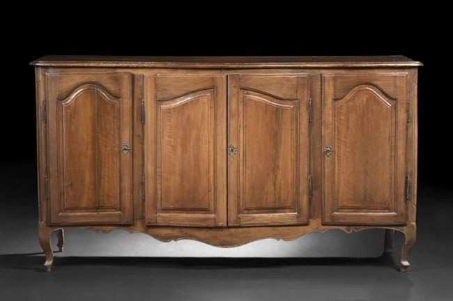 5: Provincial Louis XV Walnut Buffet