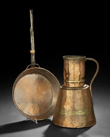 15: Two Copper, Brass & Wrought-Iron Cooking Utensils