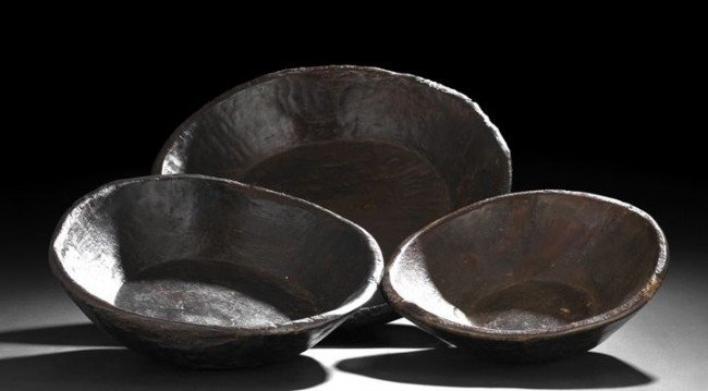 20: Group of Three Provincial Treenware Bowls