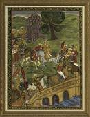 482 Large Framed Indian Painting on Paper