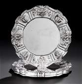 """634: Six """"Francis I"""" Sterling Silver Service Plates"""
