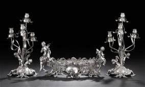 919: Three-Piece German .800 Silver Table Garniture