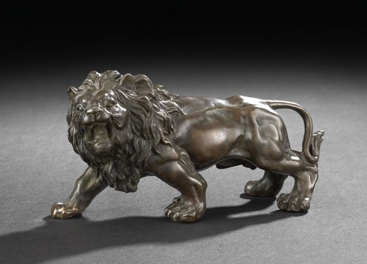 4: English Bronze Crouching Lion