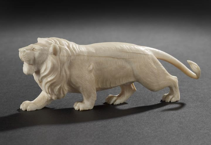 7: Continental Carved Ivory Lion