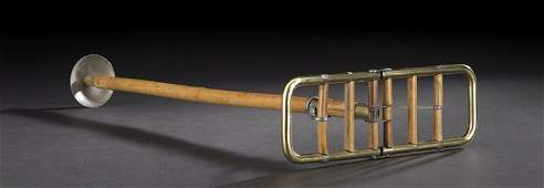 385 Late Victorian Brass  Bamboo Shooting Stick