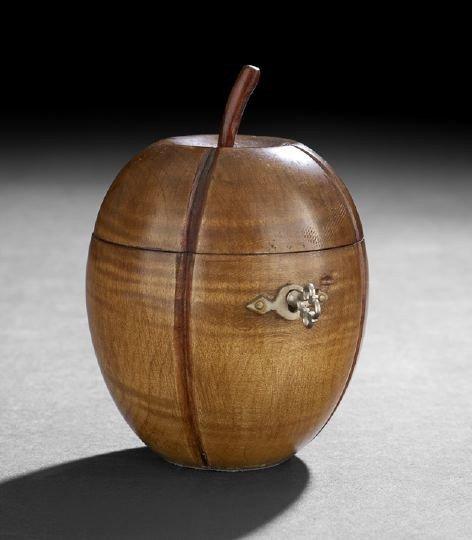 10: George III-Style Fruitwood Tea Caddy,