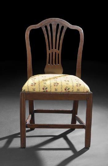 13: George III Mahogany Sidechair,