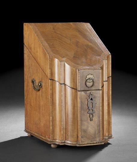 17: George III Serpentine Knife Box,