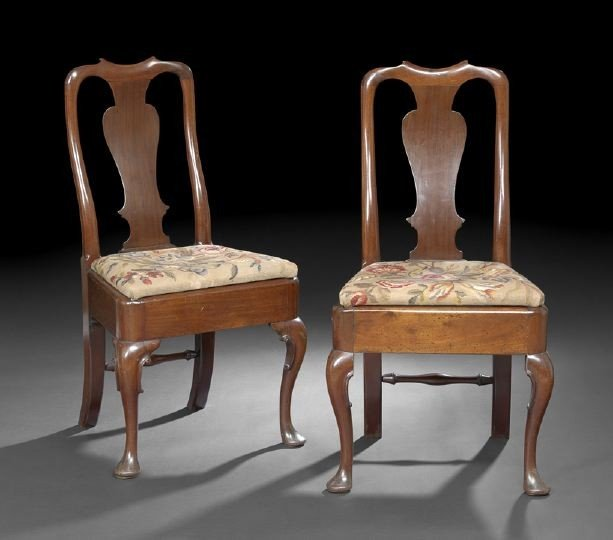 24: Pair of Dutch Queen Anne-Style Sidechairs