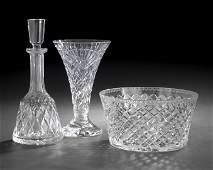 57 Three DiamondCut Waterford Crystal Objects