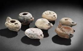 288: Seven Ancient Mid-Eastern Pottery Oil Lamps