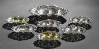 943: Tiffany & Co. Sterling 7-Piece Set of Nut Dishes