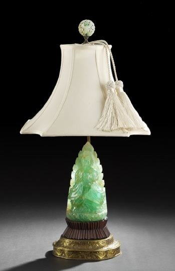 23: Chinese Carved Green Quartz Figure of Guanyin