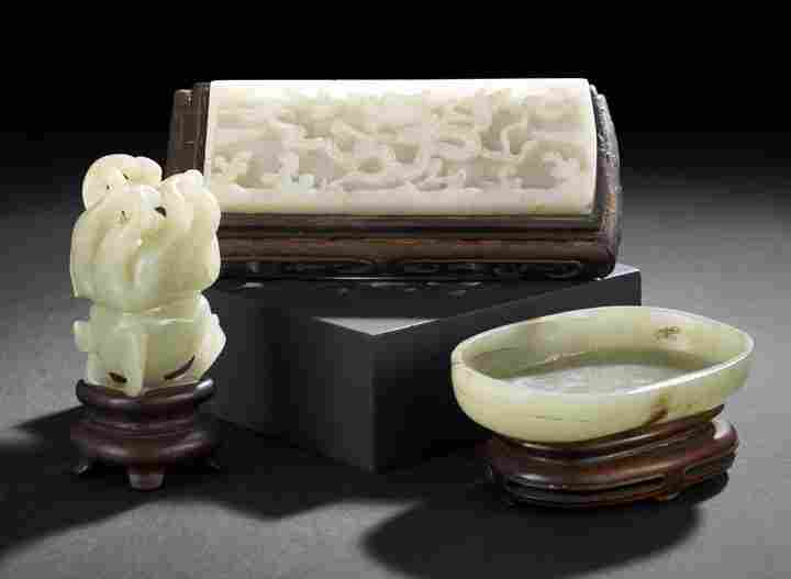 173: Group of Three Chinese Carved Jade Articles