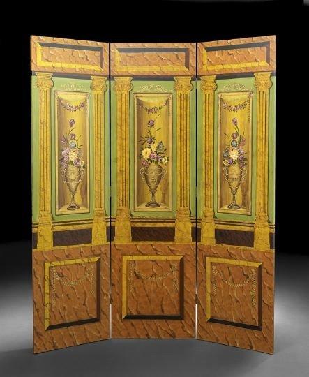 396: Louis XVI-Style Three-Piece Screen